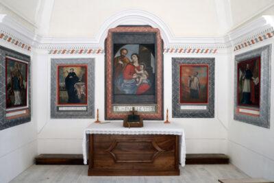 Chapelle baroque  des Plans.  Saint-Nicolas de Veroce. France.